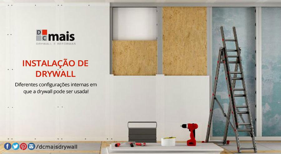 instalação do drywall