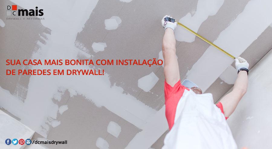 instalação de paredes em drywall