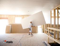 Montagem do Forro de Drywall